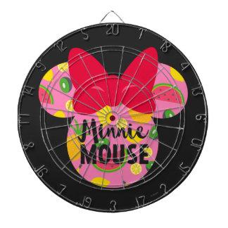 Minnie | Minnie Tropical Logo Dartboard