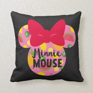 Minnie | Minnie Tropical Logo Throw Pillow