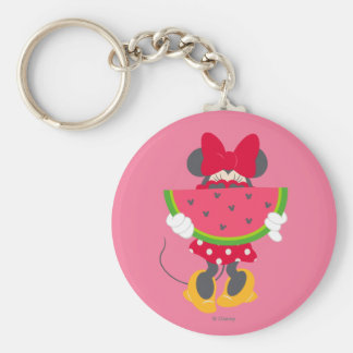Minnie | Minnie's Tropical Adventure Basic Round Button Keychain