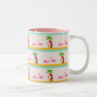 Minnie   Minnie's Tropical Pattern 2 Two-Tone Coffee Mug
