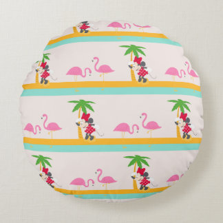 Minnie | Minnie's Tropical Pattern Round Pillow