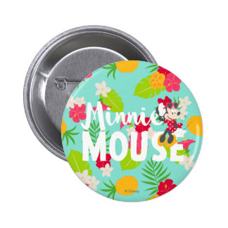 Minnie | Minnie's Tropical Pose 2 Inch Round Button