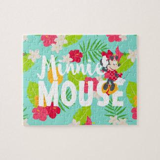 Minnie   Minnie's Tropical Pose Jigsaw Puzzle