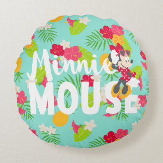 Minnie | Minnie's Tropical Pose Round Pillow