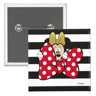 Minnie Mouse | Bow Tie 2 Inch Square Button