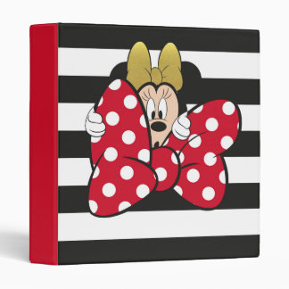 Minnie Mouse | Bow Tie Vinyl Binders