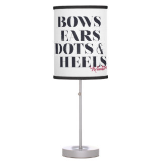 Minnie Mouse | Bows Ears Dots & Heels Table Lamps