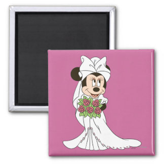 Minnie Mouse | Bride at Wedding Magnet