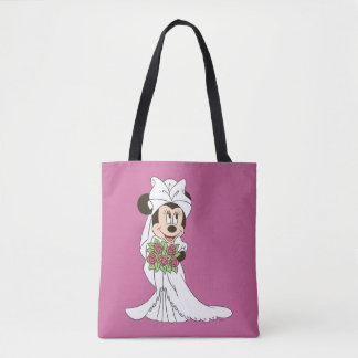 Minnie Mouse | Bride at Wedding Tote Bag