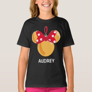 Minnie Mouse Christmas Ornament - Name T-Shirt