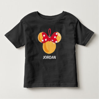 Minnie Mouse Christmas Ornament - Name Toddler T-shirt