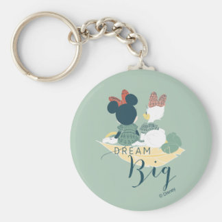 Minnie Mouse & Daisy Duck | Dream Big Basic Round Button Keychain