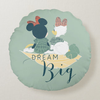 Minnie Mouse & Daisy Duck | Dream Big Round Pillow