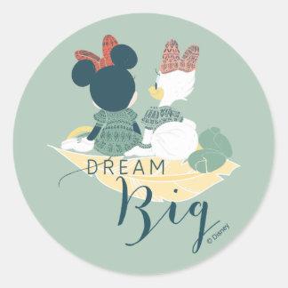 Minnie Mouse & Daisy Duck | Dream Big Round Sticker
