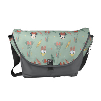 Minnie Mouse & Daisy Duck | Dream Catcher Pattern Commuter Bag