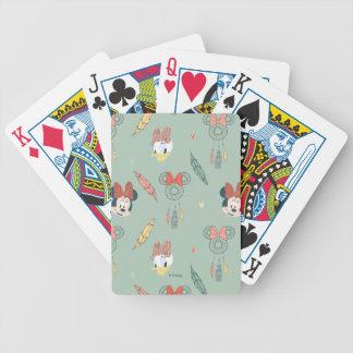 Minnie Mouse & Daisy Duck | Dream Catcher Pattern Poker Deck