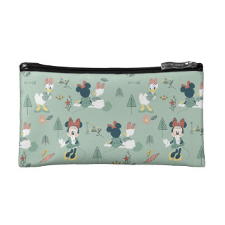 Minnie Mouse & Daisy Duck | Let's Get Away Pattern Cosmetic Bags