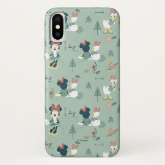 Minnie Mouse & Daisy Duck | Let's Get Away Pattern iPhone X Case