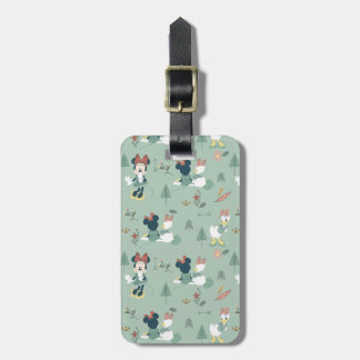 Minnie Mouse & Daisy Duck | Let's Get Away Pattern Luggage Tag