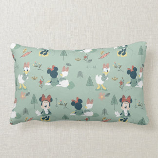 Minnie Mouse & Daisy Duck | Let's Get Away Pattern Lumbar Pillow