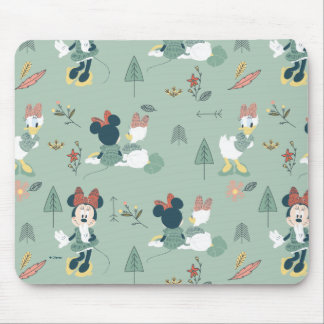 Minnie Mouse & Daisy Duck | Let's Get Away Pattern Mouse Pad