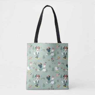 Minnie Mouse & Daisy Duck | Let's Get Away Pattern Tote Bag