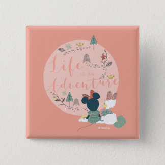 Minnie Mouse & Daisy Duck | Life is an Adventure 2 Inch Square Button