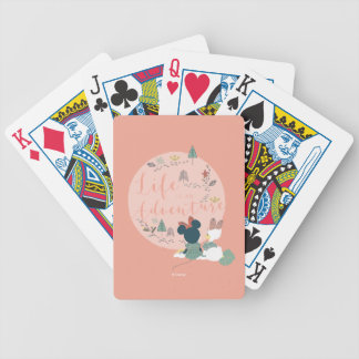 Minnie Mouse & Daisy Duck | Life is an Adventure Bicycle Playing Cards