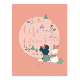 Minnie Mouse & Daisy Duck | Life is an Adventure Postcard