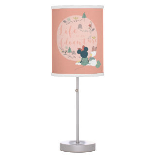 Minnie Mouse & Daisy Duck | Life is an Adventure Table Lamps