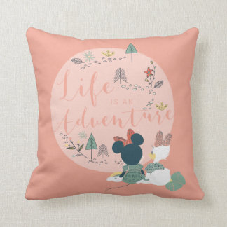 Minnie Mouse & Daisy Duck | Life is an Adventure Throw Pillow