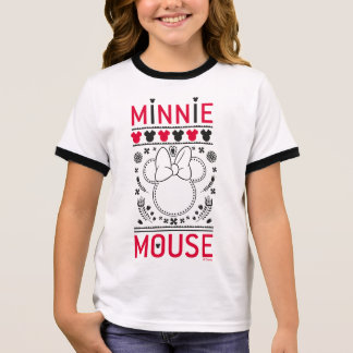 Minnie Mouse | Decoration Pattern Ringer T-Shirt