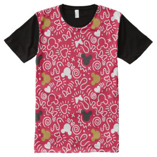 Minnie Mouse | Doodle Pattern All-Over-Print T-Shirt