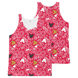 Minnie Mouse | Doodle Pattern All-Over-Print Tank Top