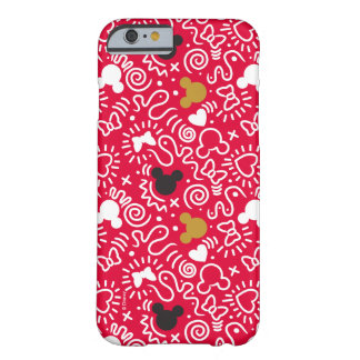Minnie Mouse | Doodle Pattern Barely There iPhone 6 Case