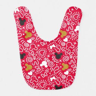 Minnie Mouse | Doodle Pattern Bib