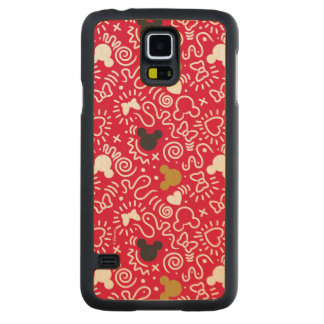 Minnie Mouse | Doodle Pattern Carved Maple Galaxy S5 Case