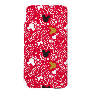 Minnie Mouse | Doodle Pattern Incipio Watson™ iPhone 5 Wallet Case