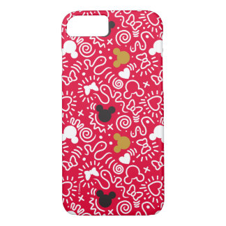 Minnie Mouse | Doodle Pattern iPhone 8/7 Case