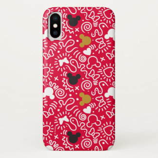 Minnie Mouse | Doodle Pattern iPhone X Case