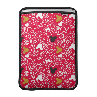 Minnie Mouse | Doodle Pattern MacBook Sleeve