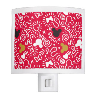 Minnie Mouse | Doodle Pattern Nite Lite