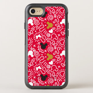 Minnie Mouse   Doodle Pattern OtterBox Symmetry iPhone 8/7 Case