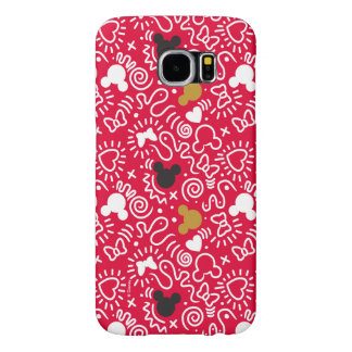 Minnie Mouse | Doodle Pattern Samsung Galaxy S6 Cases