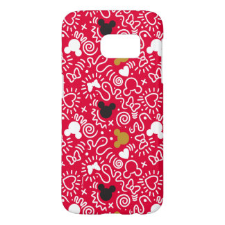 Minnie Mouse | Doodle Pattern Samsung Galaxy S7 Case
