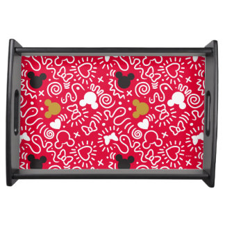 Minnie Mouse | Doodle Pattern Serving Tray
