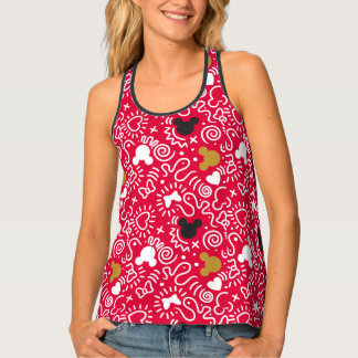 Minnie Mouse | Doodle Pattern Tank Top