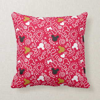 Minnie Mouse | Doodle Pattern Throw Pillow
