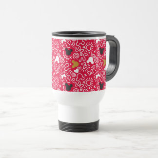 Minnie Mouse | Doodle Pattern Travel Mug