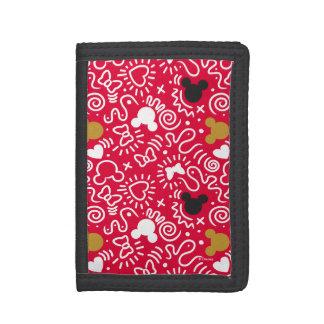 Minnie Mouse | Doodle Pattern Tri-fold Wallet